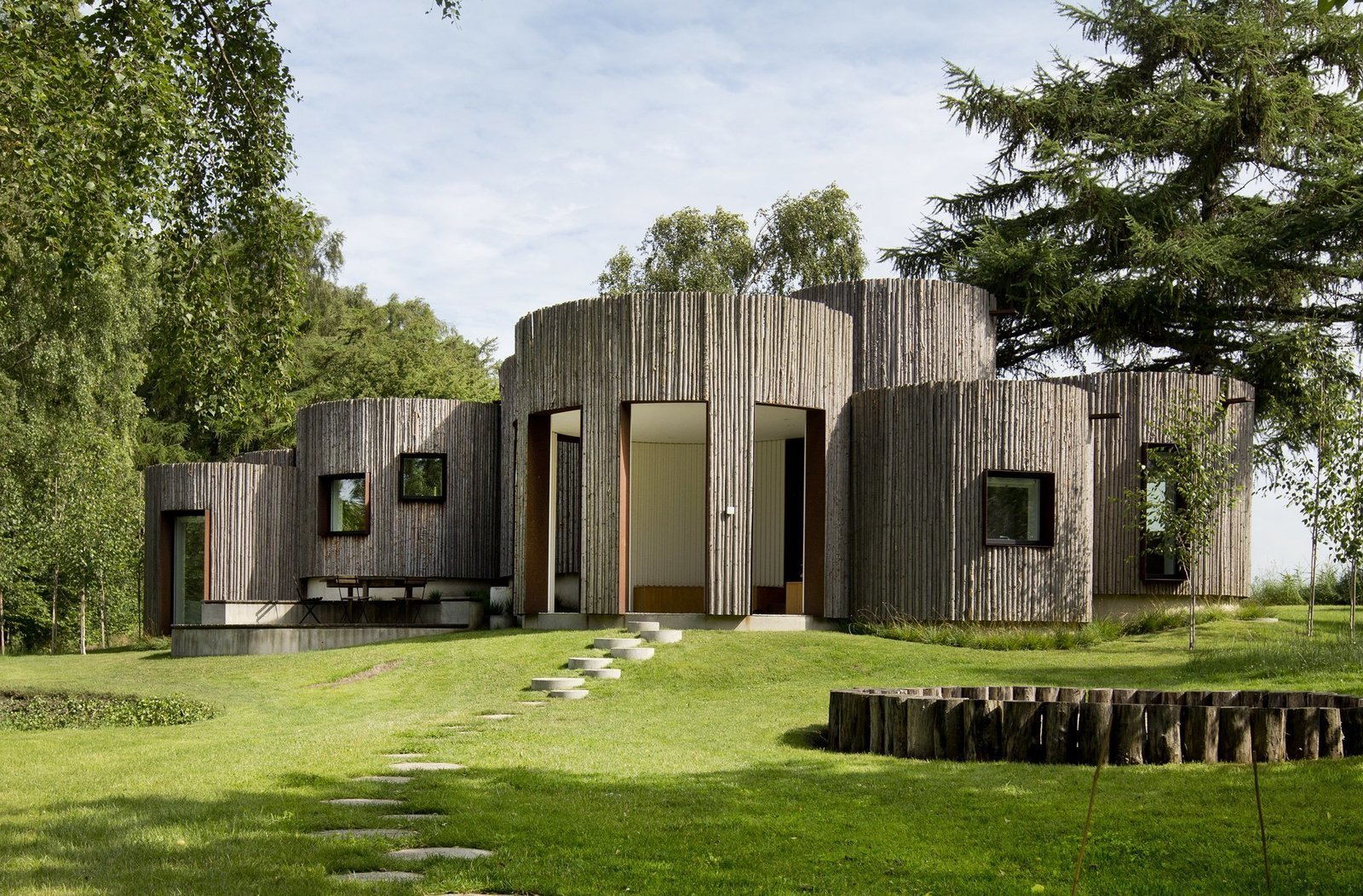 Photo 2 of 15 in Stay in This Danish Vacation Home Made Up of 9 Log-Clad Cylinders