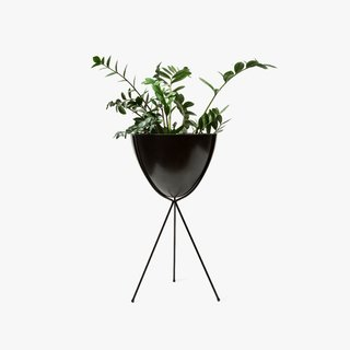 Hip Haven Tall Black Stand and Bowl
