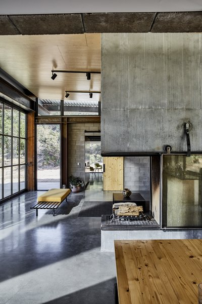 High ceilings and clerestory windows fill the public rooms with light.