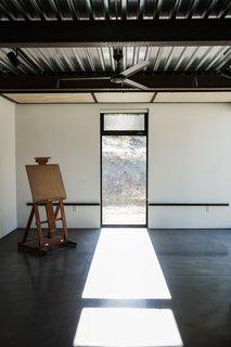 Carol's art studio doubles as a guest bedroom.
