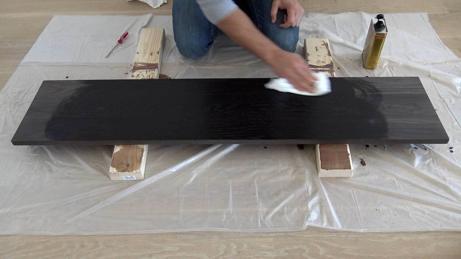 Photo 7 of 10 in Dwell Made Presents: DIY Black Oak Bench