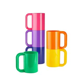 Heller Heller Rainbow Mugs, Set of 6