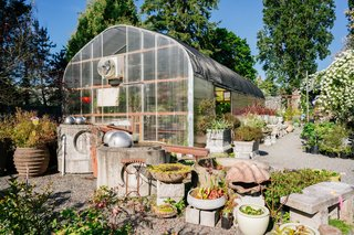 Once a plant nursery—and home for the nursery's owners—this 120-year-old home in Vachon Island has a luscious greenhouse that can also be used for special events.
