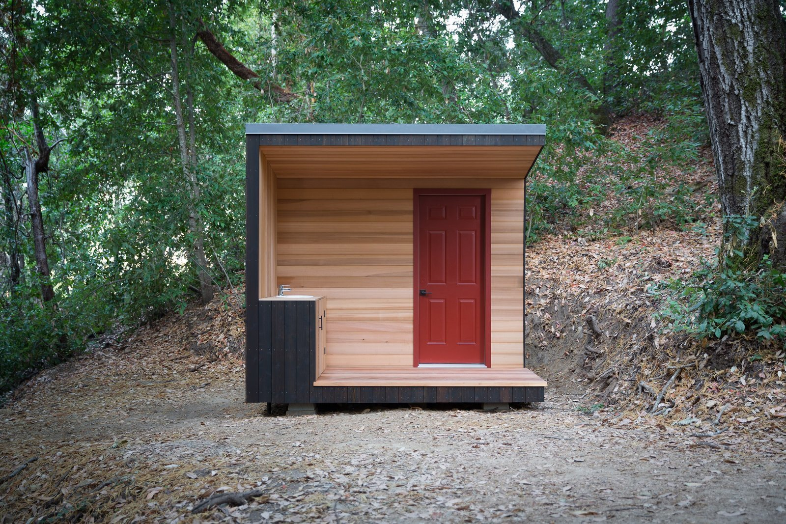 Diy project how to build your own modern outhouse dwell for Build your own modern house