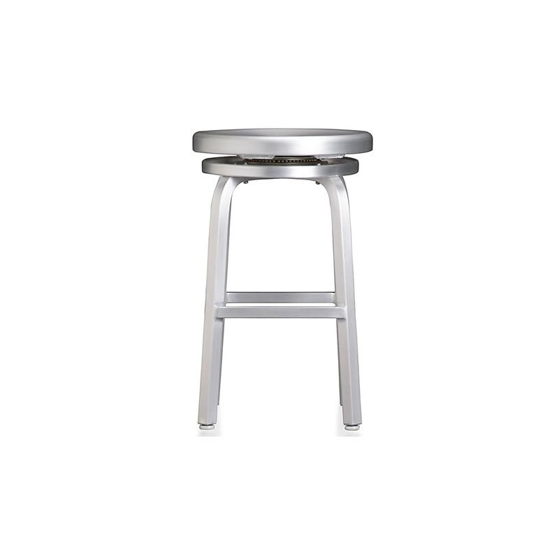 Crate & Barrel Spin Swivel Backless Bar Stool