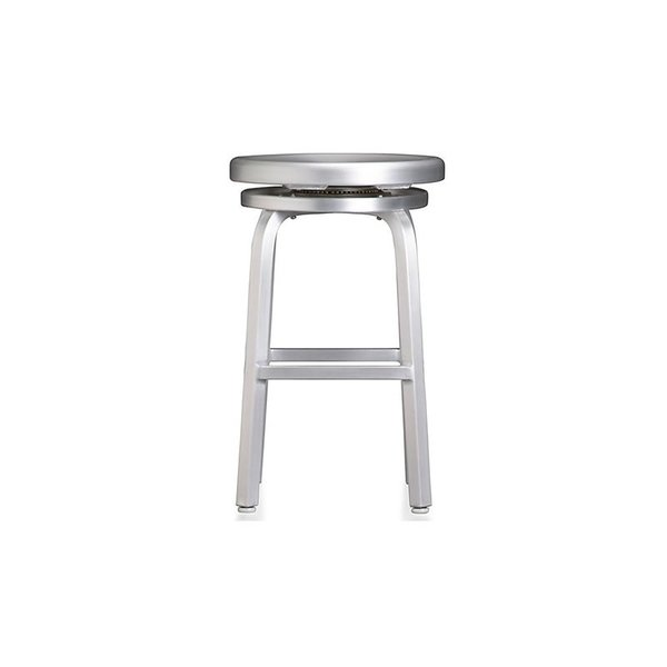 Crate & Barrel Spin Swivel Backless Bar Stool