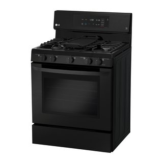 Matte-black stainless steel gas single-oven range by LG</p><p>$1,249 LG's large-capacity oven boasts a fingerprint- and smudge- resistant finish, as well as intuitive glass controls that are as easy to operate as they are to wipe clean.