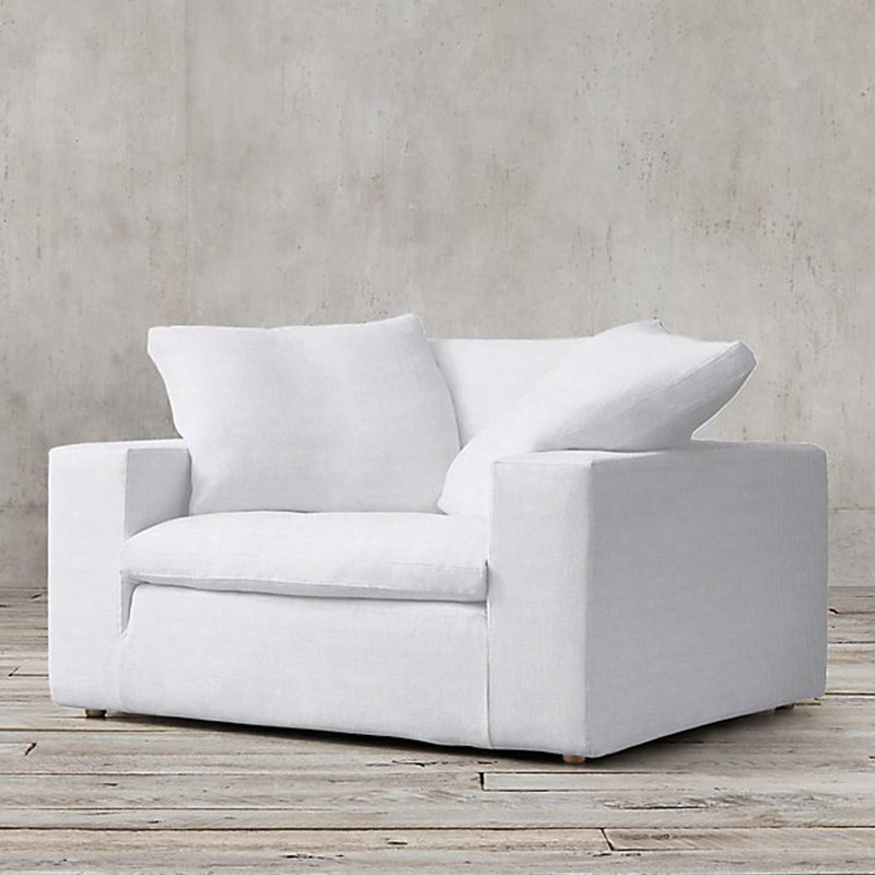 CLOUD TRACK ARM FABRIC CHAIR By Restoration Hardware