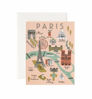 Paris Map Greeting Card by Rifle Paper Co.