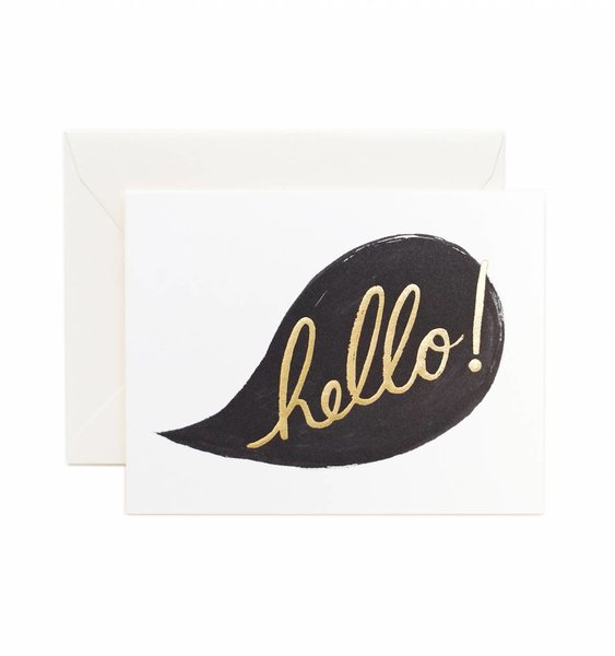 Hello! Conversation Greeting Card by Rifle Paper Co.