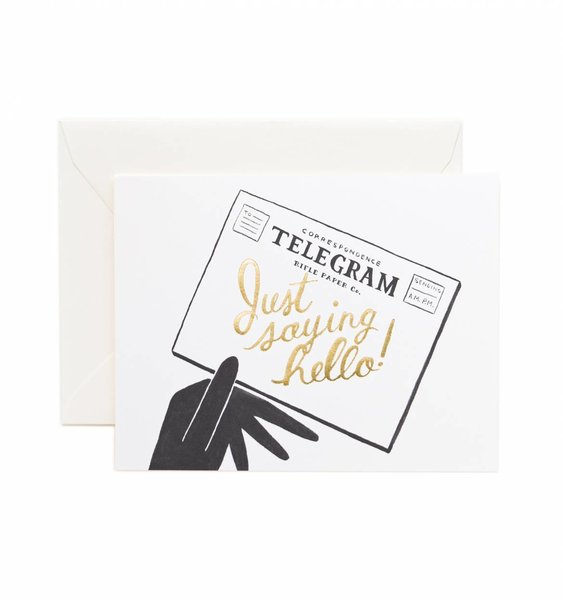 Hello! Telegram Greeting Card by Rifle Paper Co.