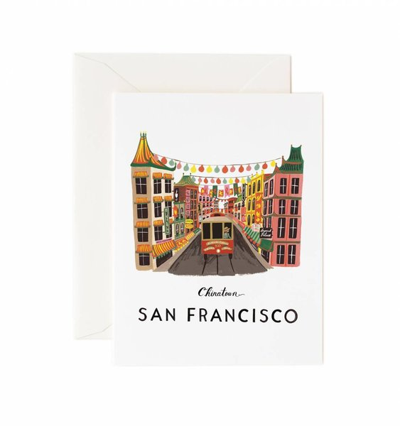 San Francisco Greeting Card by Rifle Paper Co.