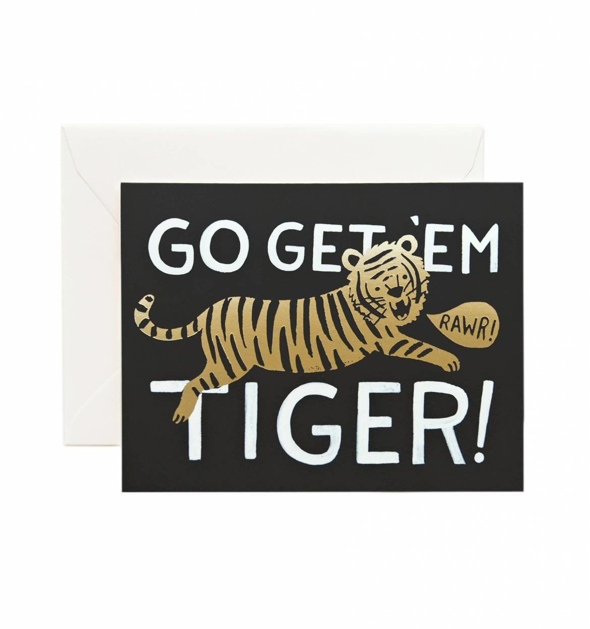 Photo 1 of 1 in Go Get 'Em Tiger Greeting Card by Rifle Paper Co.