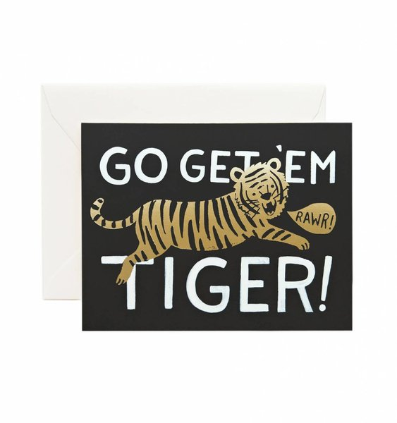 Go Get 'Em Tiger Greeting Card by Rifle Paper Co.
