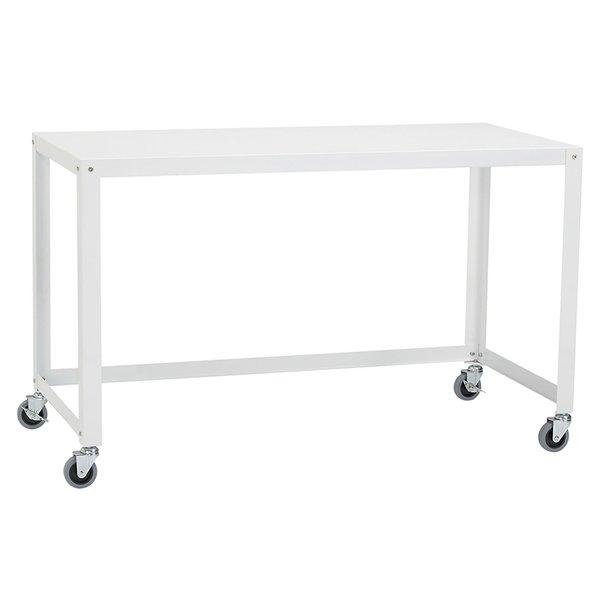 go-cart white rolling desk by CB2
