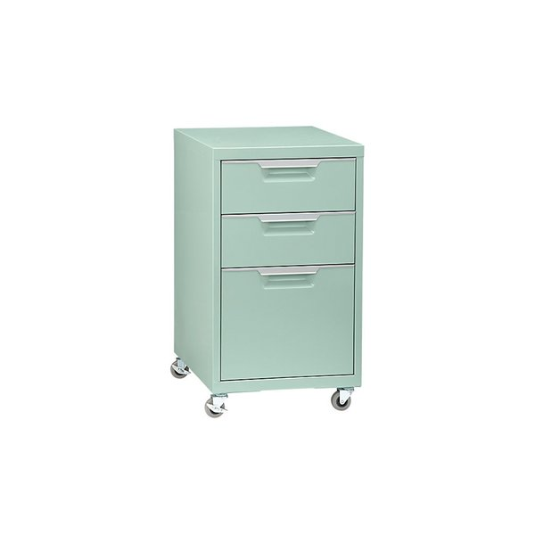 tps mint 3-drawer filing cabinet by CB2