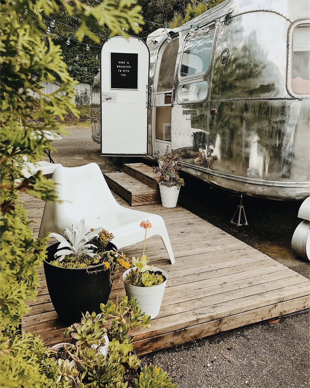 couple transform  vintage airstream   scandinavian inspired tiny home dwell