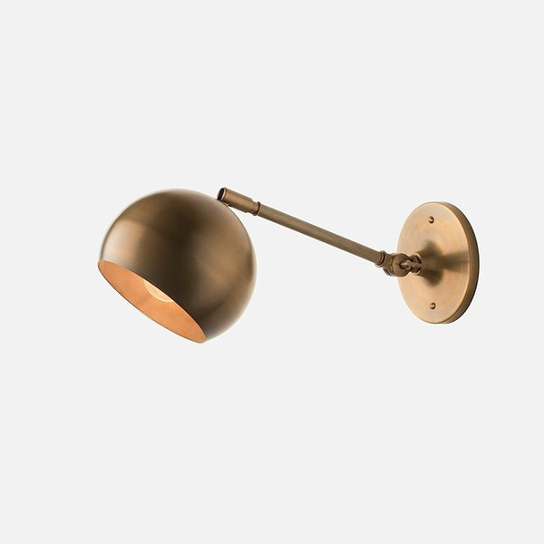 Schoolhouse Electric Isaac Sconce Brass – Long Arm