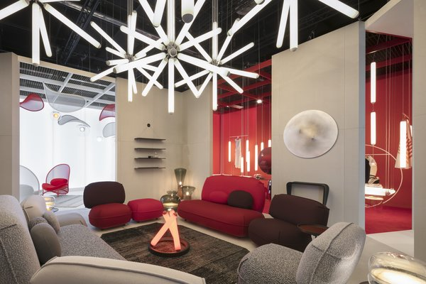 Living Room, Pendant Lighting, and Chair  Photo 6 of 9 in Q&A: Lucie Koldova Talks About Her Das Haus Concept For imm Cologne