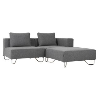 CB2 Lotus 3 Piece Grey Sectional Sofa By CB2   Dwell