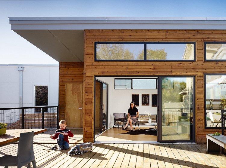 inexpensive prefab homes deck