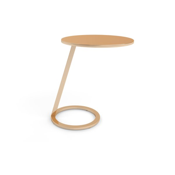 Ligne Roset Good Morning Copper Pedestal Table