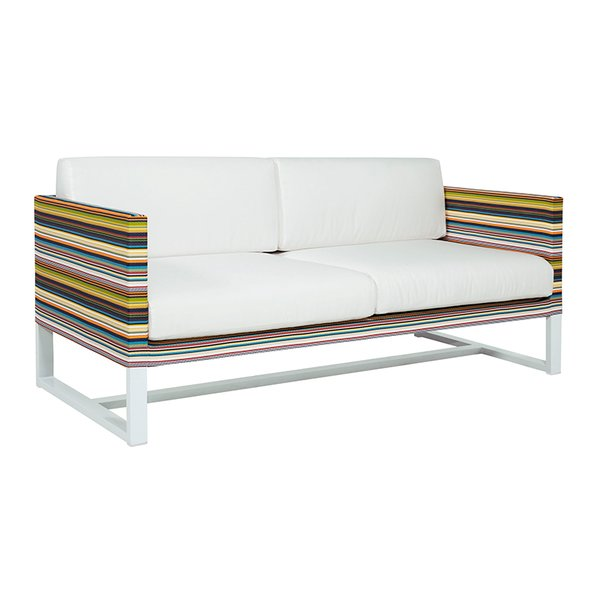 Stripe 2-Seater outdoor Sofa by MamaGreen