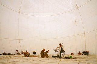 16 Otherworldly Photos of Burning Man Architecture - Photo 10 of 16 - Playa Moon Dome of Camp Do More Now