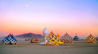 16 Otherworldly Photos of Burning Man Architecture - Photo 13 of 16 - Zonotopia and the Two Trees by Rob Bell