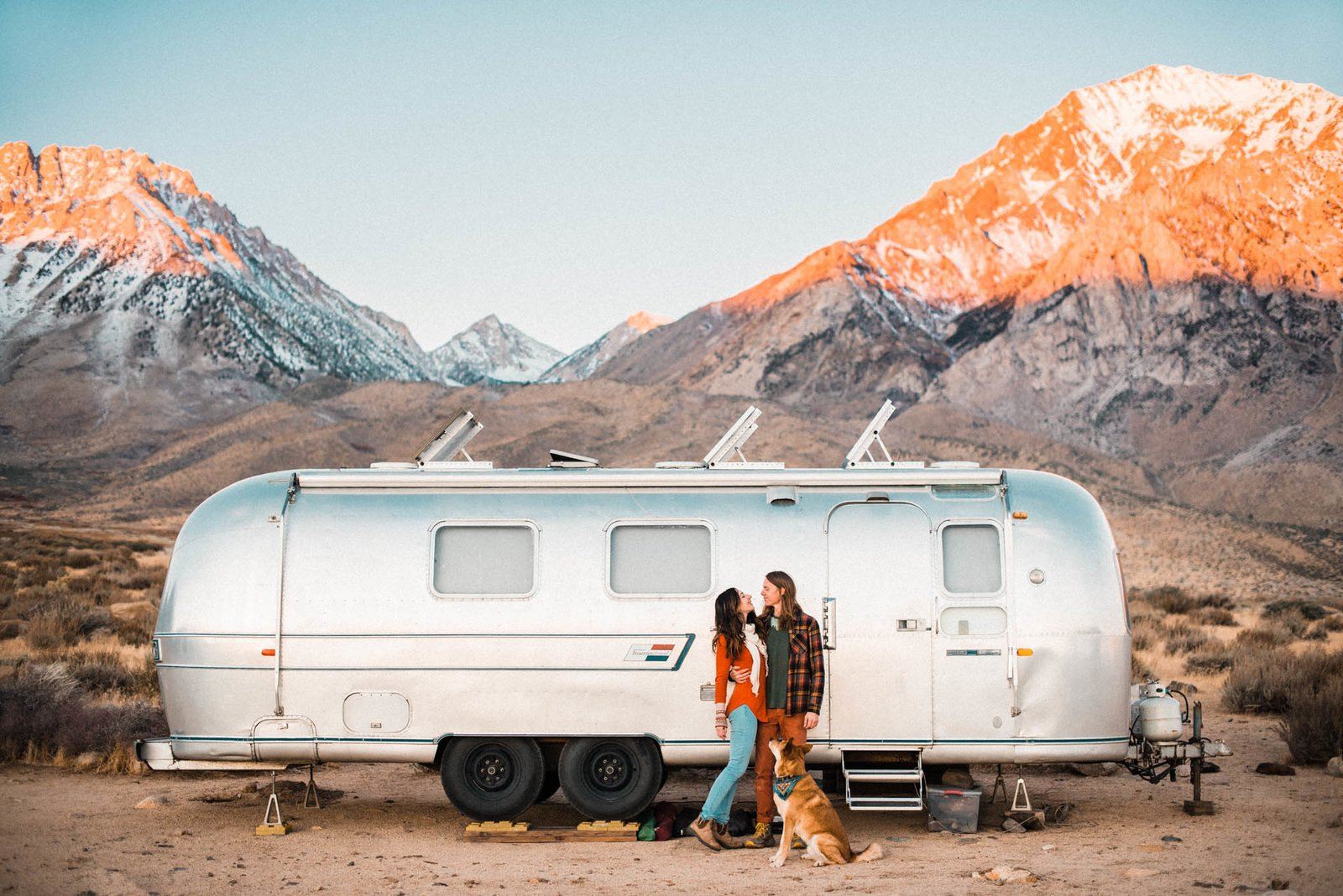 Exterior, Airstream Building Type, and Metal Siding Material  Photos from A Photographer Couple's Airstream Renovation Lets Them Take Their Business on the Road