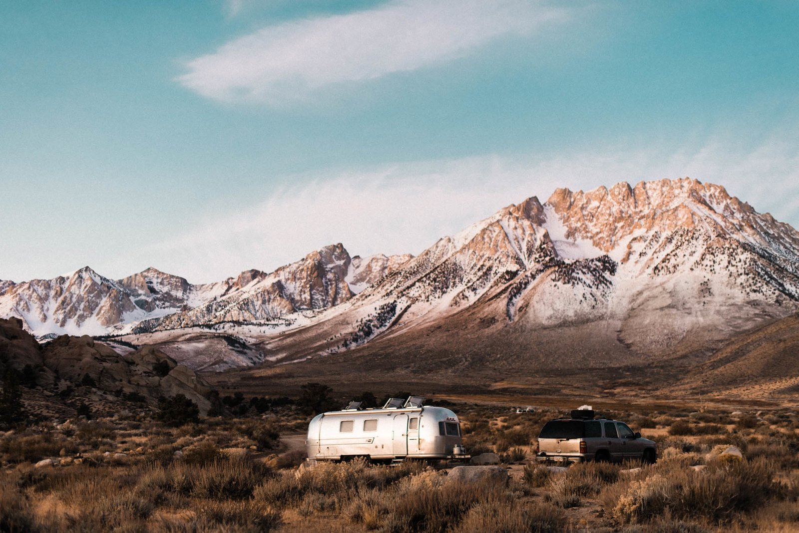 Exterior, Metal Siding Material, and Airstream Building Type  Best Photos from A Photographer Couple's Airstream Renovation Lets Them Take Their Business on the Road