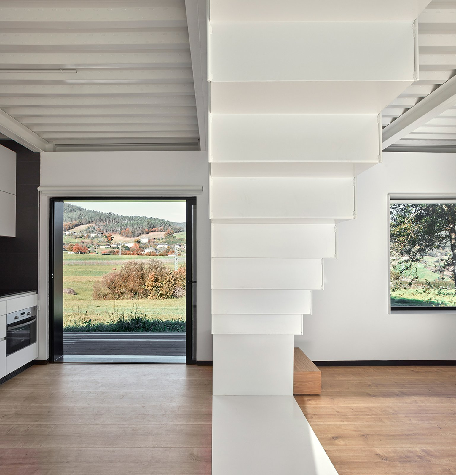 Staircase and Metal Tread  Photos from This Affordable Prefab in Spain Only Took 5 Hours to Assemble