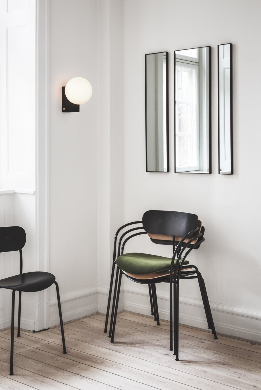 Living Room, Chair, Light Hardwood Floor, and Wall Lighting  Photo 3 of 16 in Trend Watch: Study Up on the Best Design from imm Cologne 2018