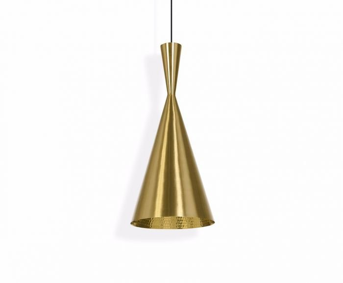 Tom Dixon Tall Beat Light Brass Pendant