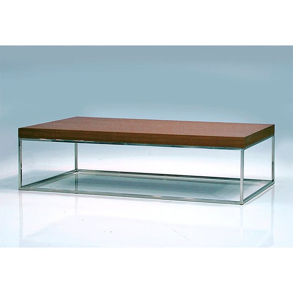 Mobital Kubo Square Coffee Table in Natural Walnut