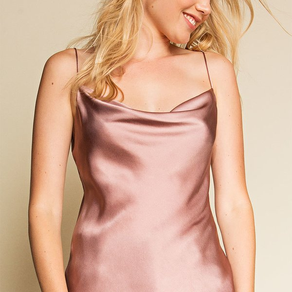 Frances Austen Cowl Neck Top –  Nude Pink