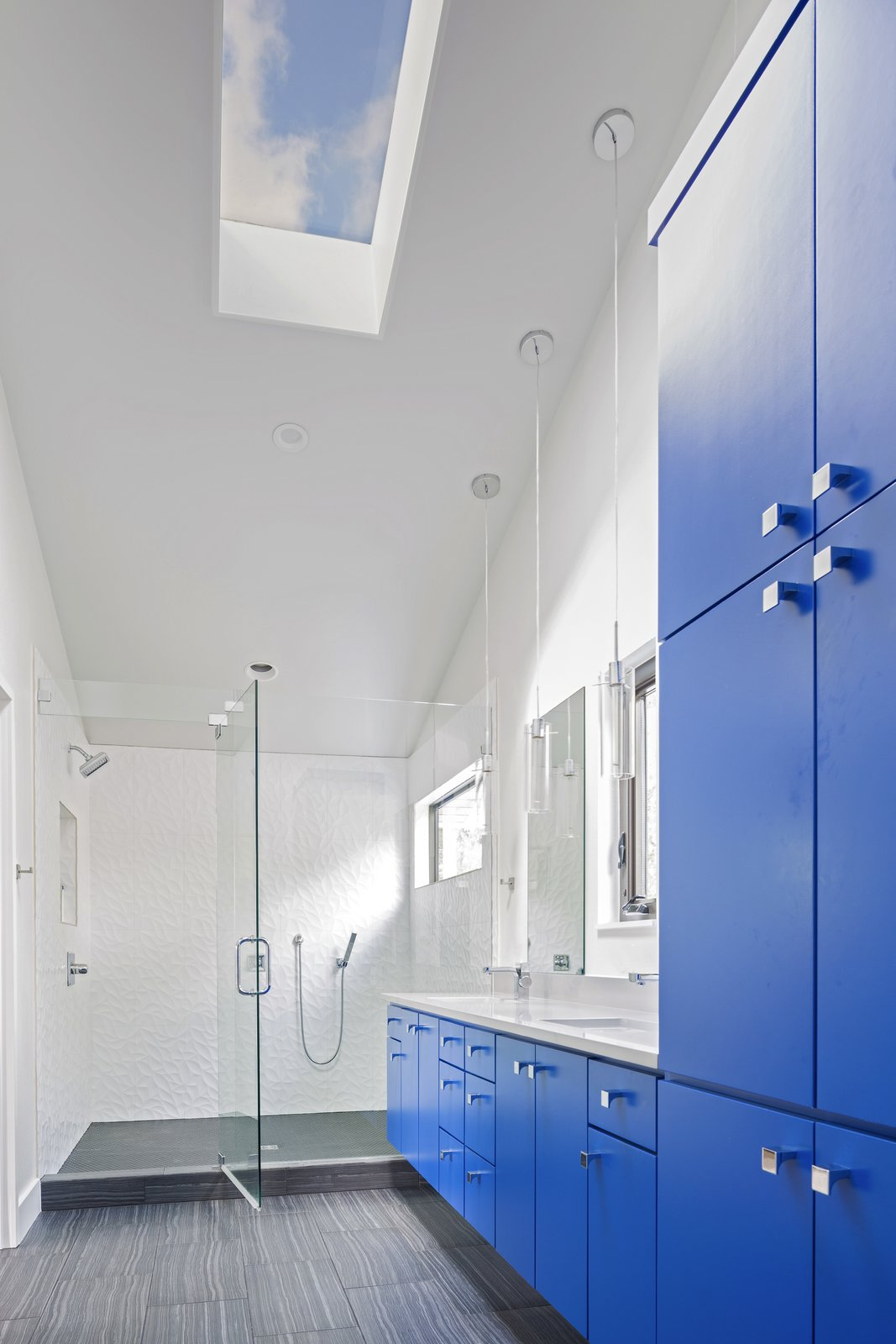 Bath Room, Pendant Lighting, Enclosed Shower, Undermount Sink, and Full Shower  Photo 8 of 8 in 8 Envy-Inducing Kitchens and Baths Posted by Our Community