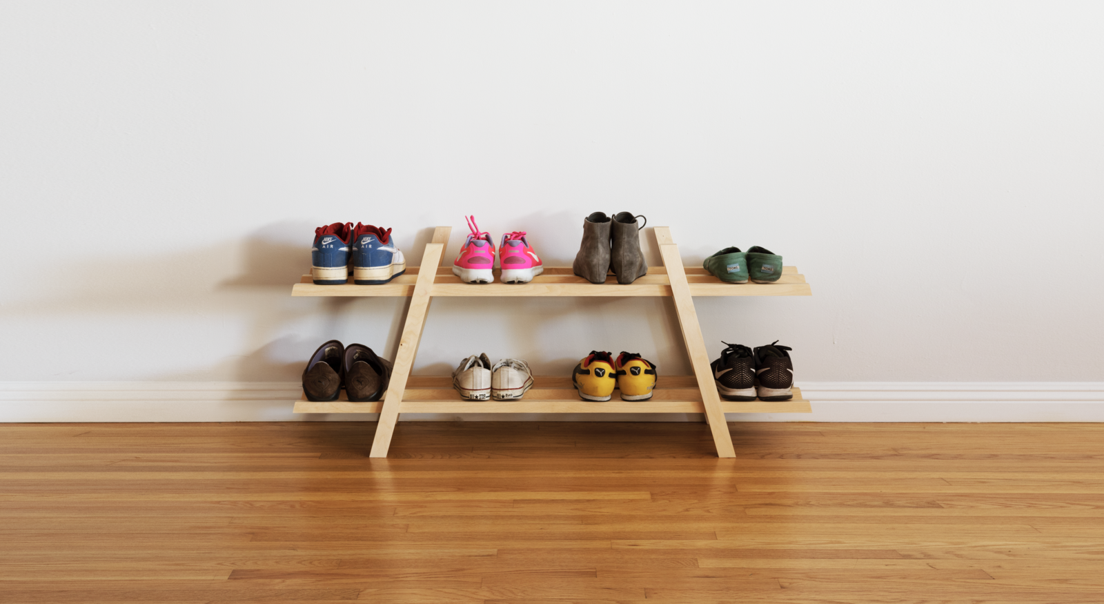 Storage Room  Photos from Dwell Made Presents: DIY Modern Shoe Rack