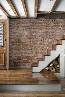 Some floorboards and stair treads were salvaged from a farmhouse upstate.