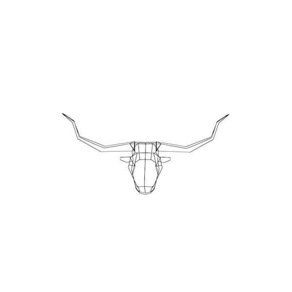 Bend Goods Long Horn Geometric Animal Head