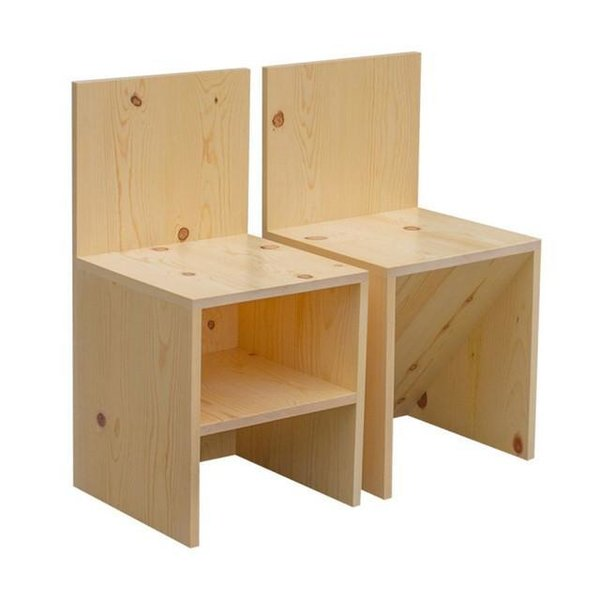 Donald Judd Front Shelf Chair