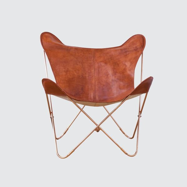 The Citizenry Copper and Cognac Palermo Chair