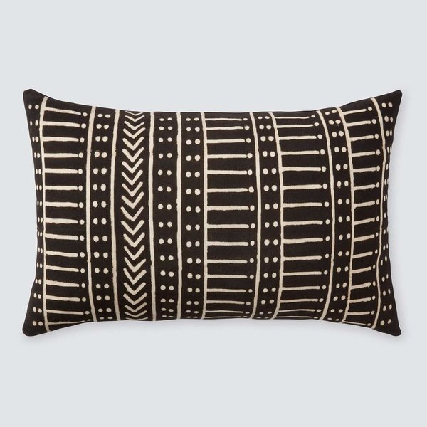 The Citizenry Minuit Mud Cloth Lumbar Pillow