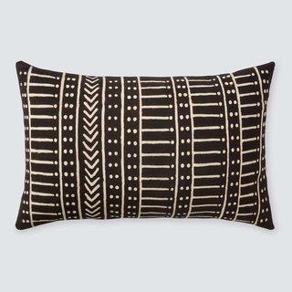 The Citizenry Minuit Mud Cloth Lumbar Pillow