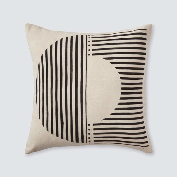 Demi Mud Cloth Pillow (Cream)