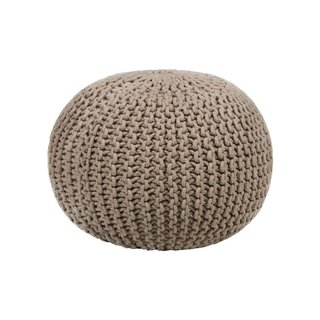 Chandra Contemporary Cotton Cord Pouf