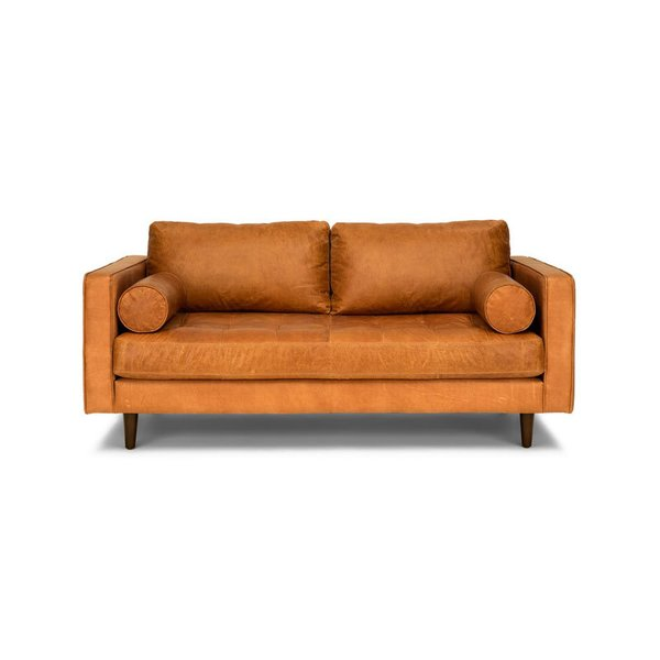 "Merry Modern: Article Sven Charme Tan 72"" Sofa"