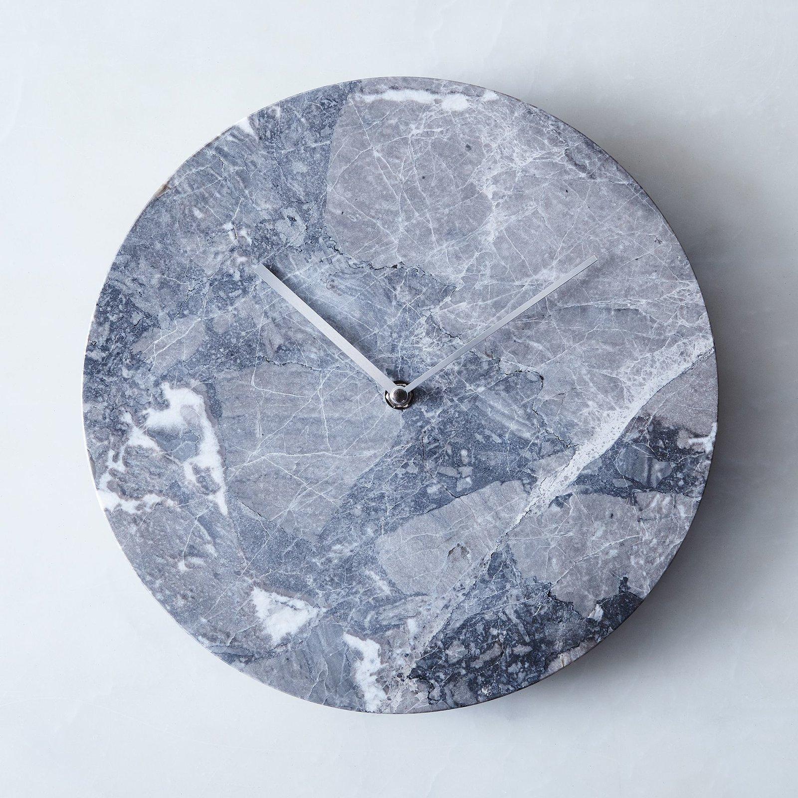 Photo 1 of 1 in Menu Grey Marble Wall Clock