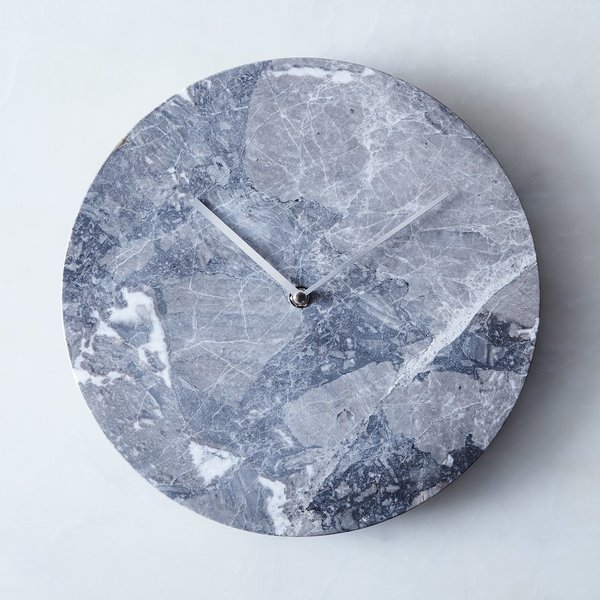 Menu Grey Marble Wall Clock
