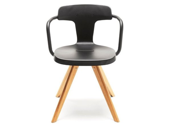 T14 | Wooden chair by Tolix